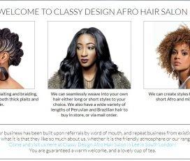 Classy Design Afro Hair Salon