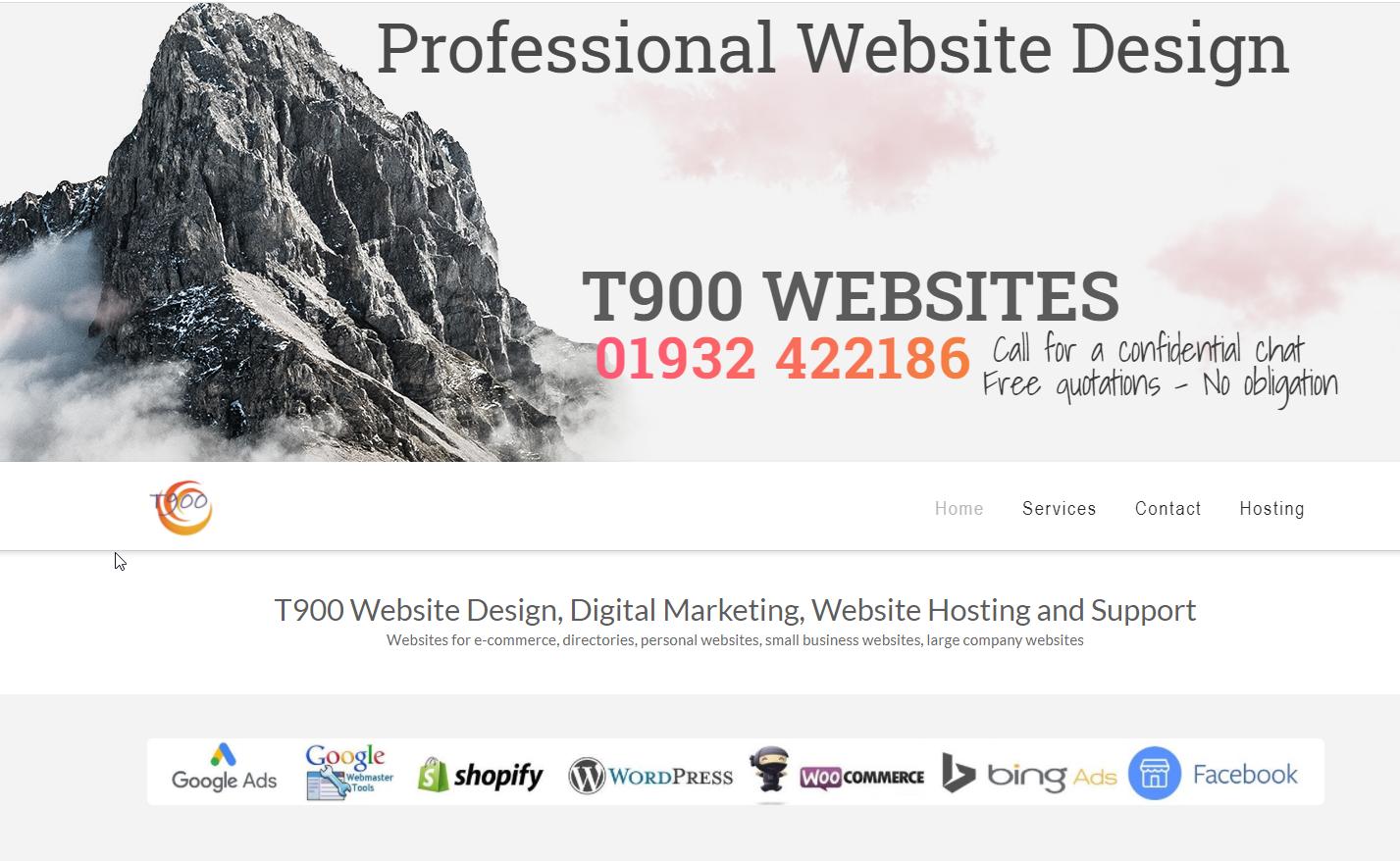 T900 Website Design